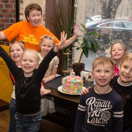 детский праздник в кафе